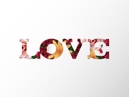 Illustration vector design concept of love Valentines day. Çizim
