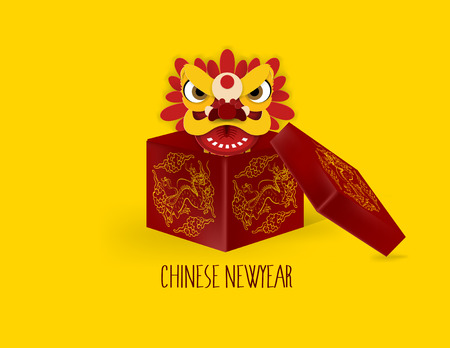 graphic design concept of chinese new year