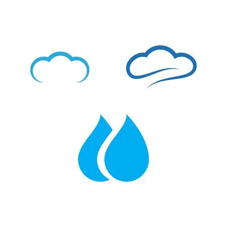 water drop template vector illustration
