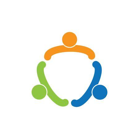 Vecteur de modèle de logo d'adoption et de soins communautaires