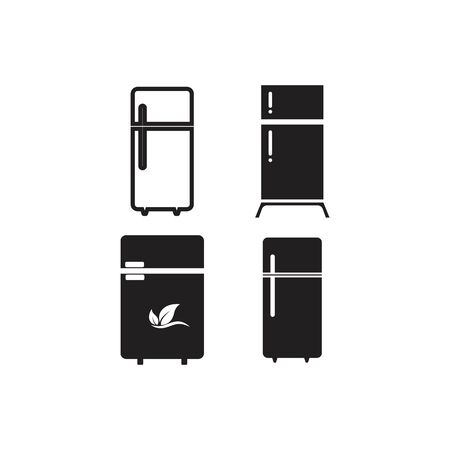 refrigerator logo icon template design illustration Vectores