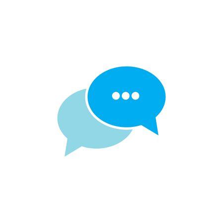 chat icon vector template illustration Ilustración de vector