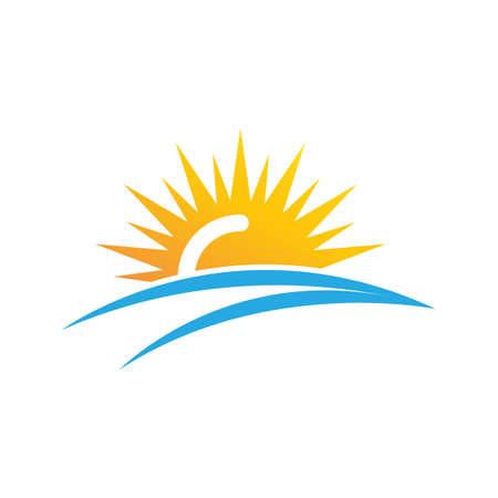 sun ilustration logo vector icon template Logo