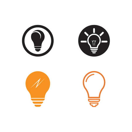 Bulb logo vector ilustration template Stockfoto - 151093943