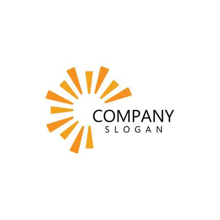 sun illustration logo vector icon template Logo