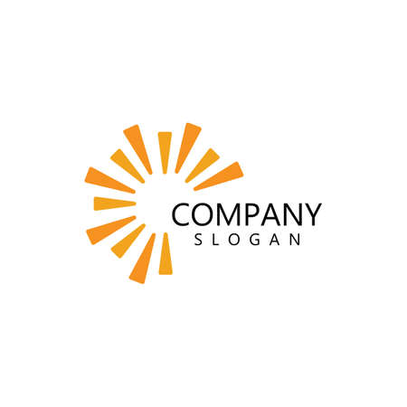 sun illustration logo vector icon template Logó