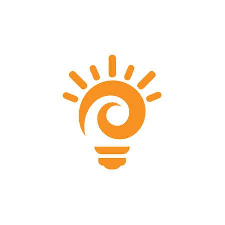 Bulb logo vector illustration template Logo