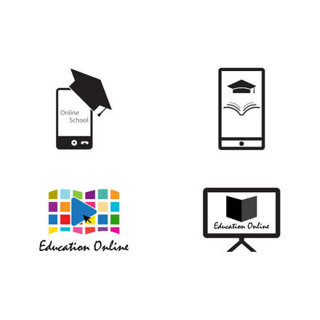 online education schooling vector icon illustration design