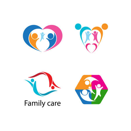 family care adoption vector design illustration