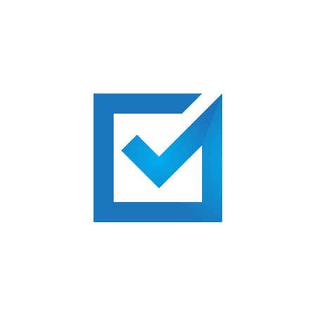 Check mark V Letter Logo Template Logo