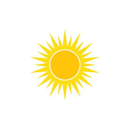 sun illustration logo vector icon template