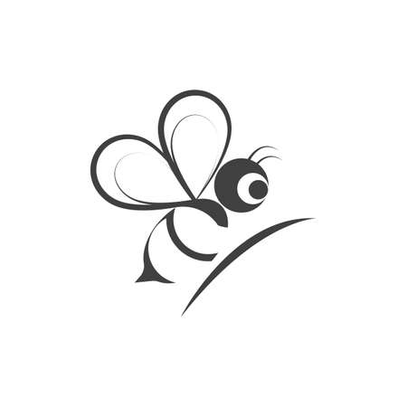 Bee Logo Template vector icon illustration design