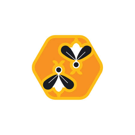 Bee Logo Template vector icon illustration design Banco de Imagens - 155174693
