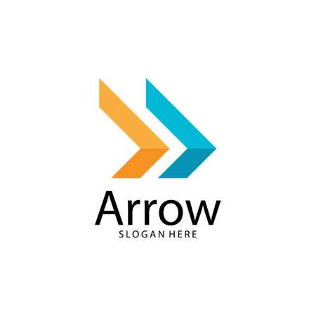 Arrow illustration logo vector template Logo