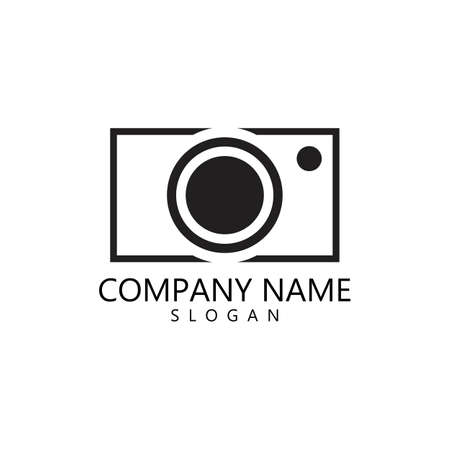 Camera icon vector template illustration design