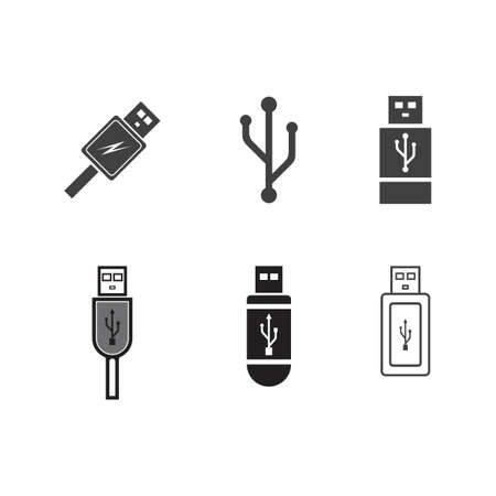 usb icon vector template design illustration