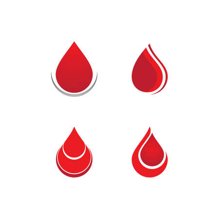 Blood ilustration vector template