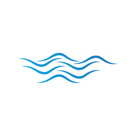 Water wave design vector Template