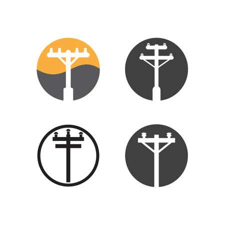 power pole logo vector icon illustration