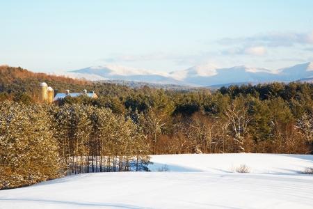 Snowy Green Mountains photo