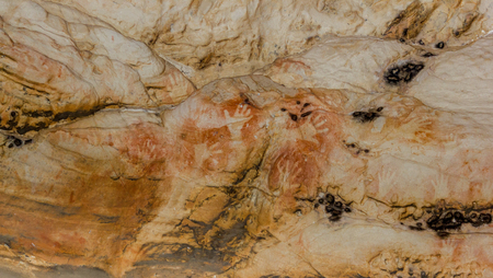 Aboriginal Art: hand prints in a cave, grampians national park