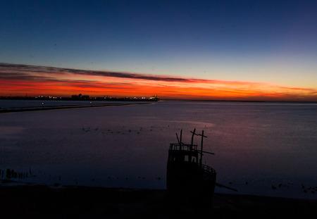 sunset over St.Kilda Playground, Salisbury, South Australia Stock Photo
