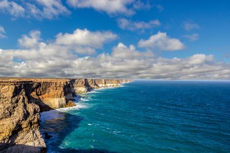 magnifique et célèbre belvédère de la Great Australian Bight au camp de Bunda Cliffs Banque d'images