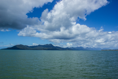 view to dunk island on a beautiful summer day, Missions beach, Queensland