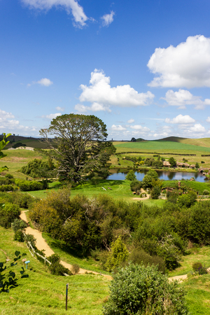 Hobbiton, Movie Set of the Lord of the Rings Movies, Auenland, New Zealand
