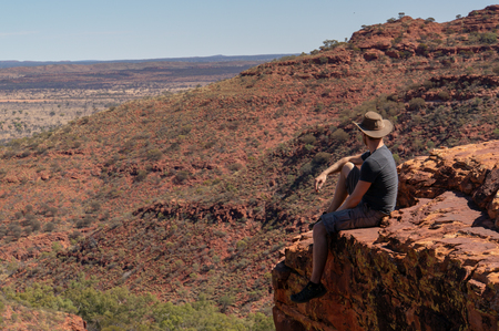 view into a canyon, Watarrka National Park, Northern Territory