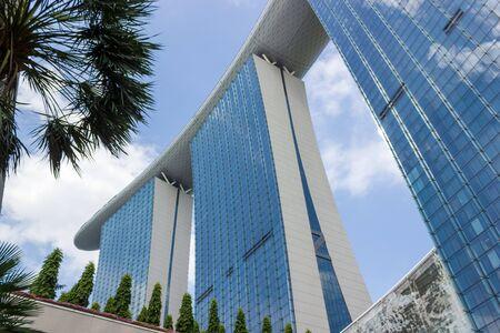 Marina Bay Sands on blue sky background, SINGAPORE