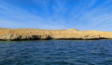 Beautiful seascape. Coast in Egypt. Red Sea. Stock Photo