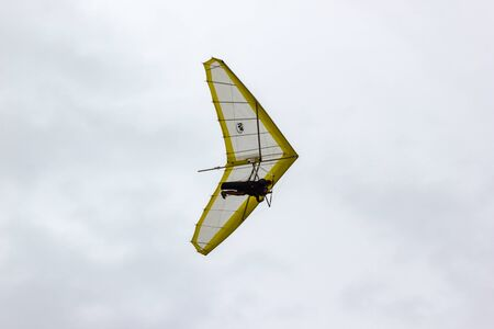 Hang glider flying in Newcastle, New South Wales, Australia