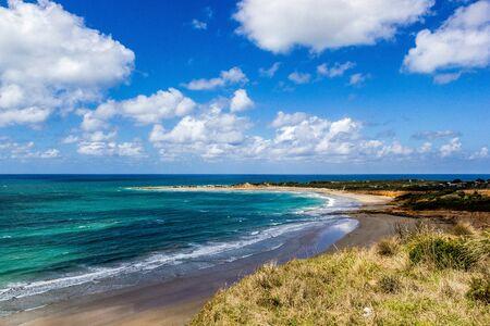 Beautiful Blue Lagoon at the Great Ocean Road, Victoria Australia Stok Fotoğraf - 132614551