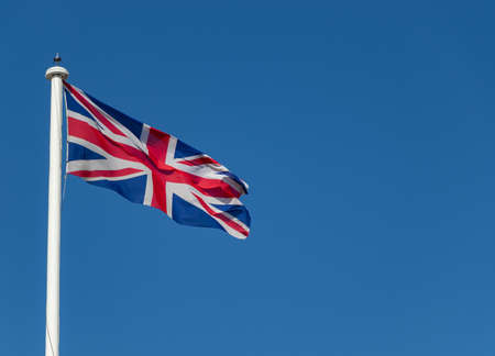 Great Britain flag on top of the Tower of London on a sunny day, London, UK 版權商用圖片 - 152388881