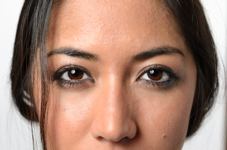 close up eyes: Close up Eyes of a Young Asian Woman Stock Photo