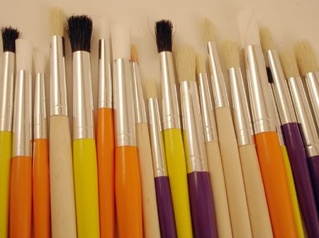 chunky: Chunky Paint Brushes                           Stock Photo