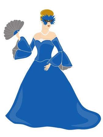 masked woman: Blue enmascarados vestidos mujer