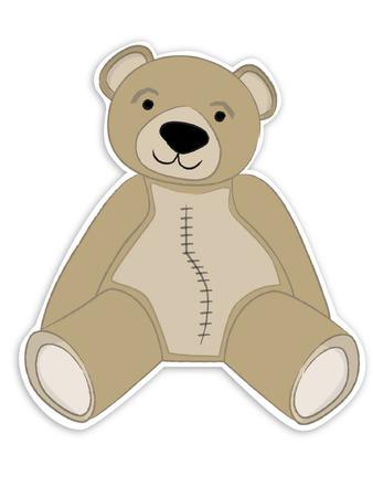 collectible: Teddy Bear Illustration    Illustration