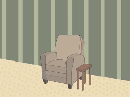 Living room  Illusztráció