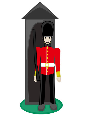 Royal Guard standing at ready in cuteville Ilustração