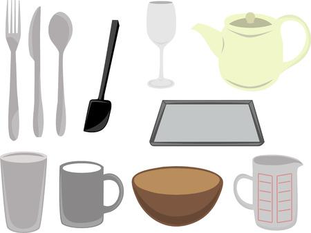 Vector Küchengeräte  Vektorgrafik