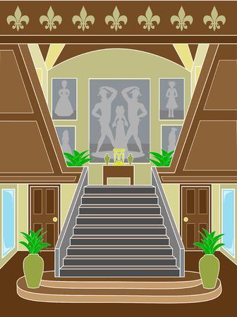 upscale: Grand Staircase upscale setting