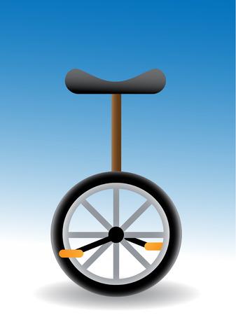 fortalecimiento: monociclo - simple ilustraci�n vectorial de un negro con asiento