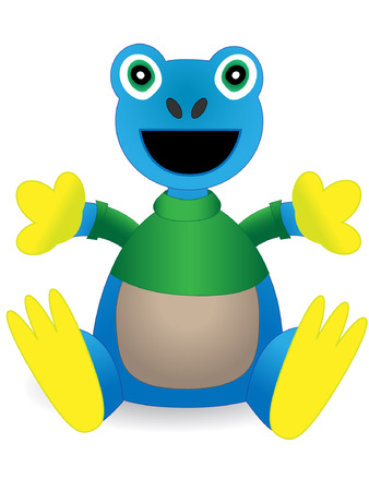Stuffed Animal Exotic Amazon Frog Toy - Vector