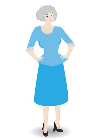 Oudere zakelijke vrouw zich dragen pak - Vector Stock Illustratie