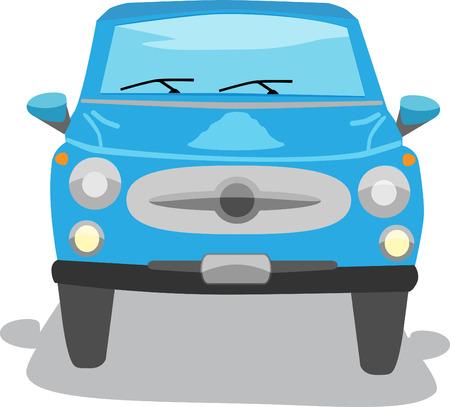 Blue Sedan Car Isolated - Vector Ilustração