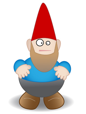 Garden gnome isolated - Vector