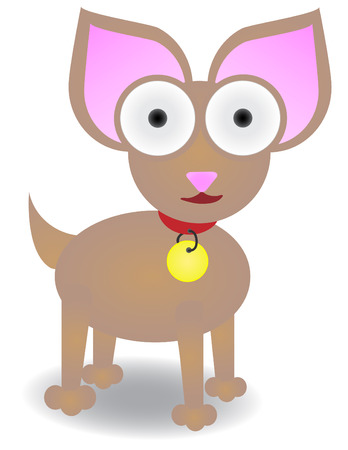 Chihuahua standing isolated Vector Illustration