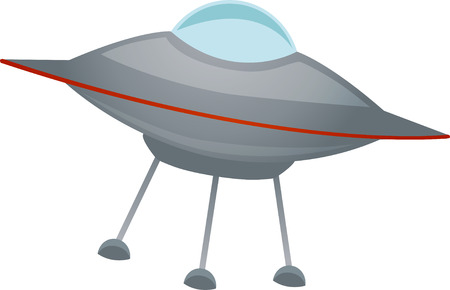 Isolated spaceship at an angle Vector Stock Vector - 3416235